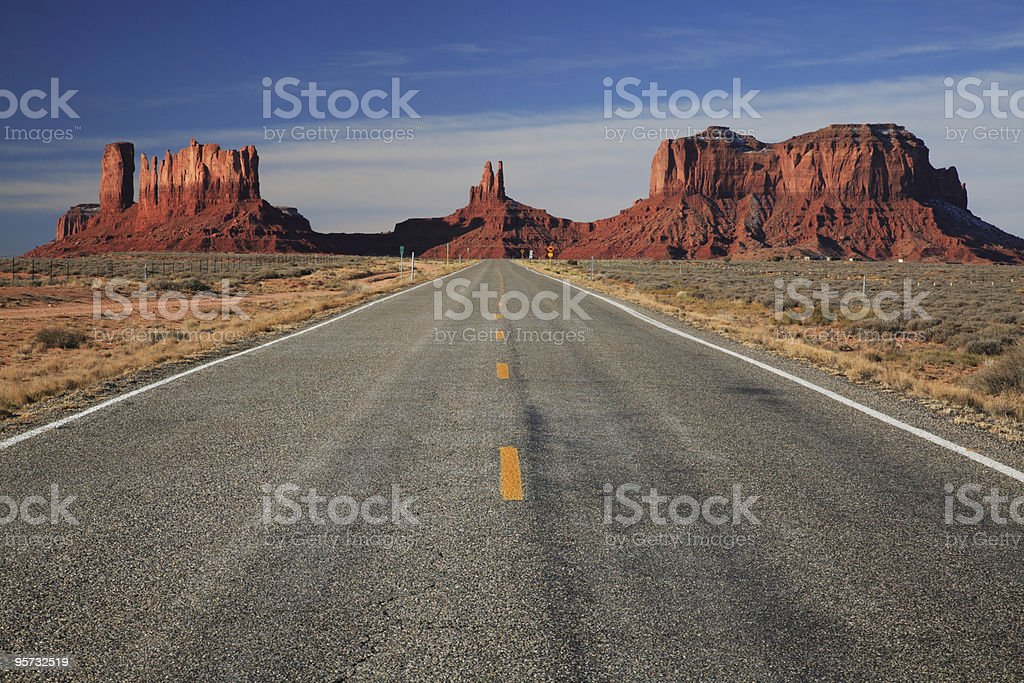 Road through the Southwest royalty-free stock photo