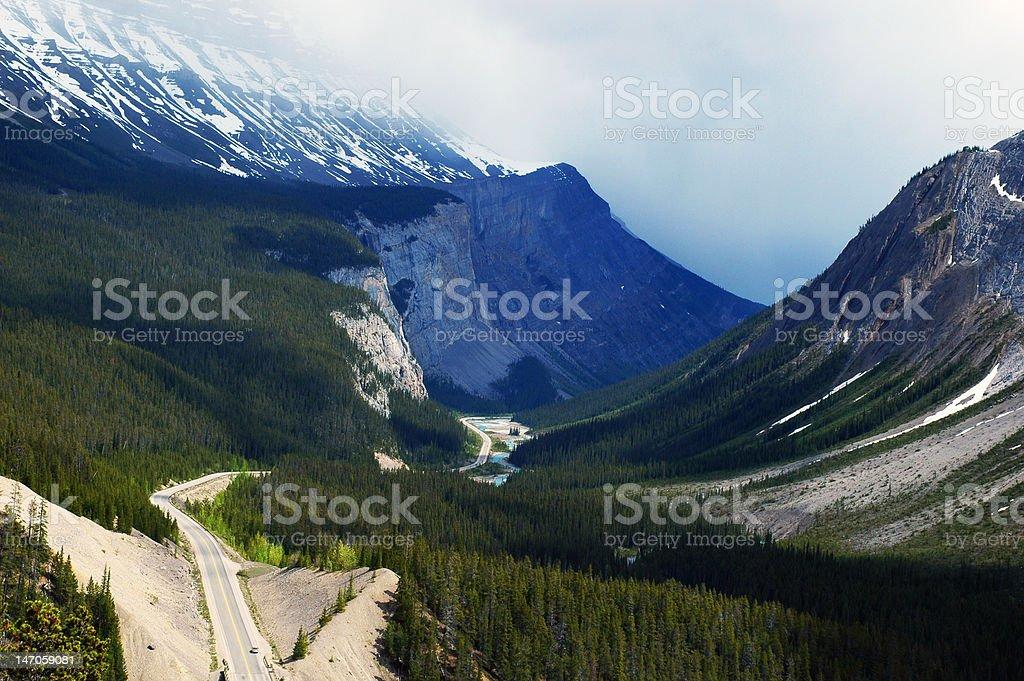Road Through Valley royalty-free stock photo