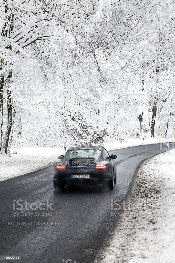 Road through winter wonderland royalty-free stock photo