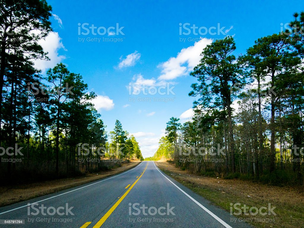 Road to Alabama stock photo