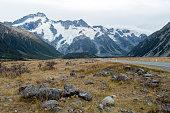 Road to Aoraki / Mount Cook National Park, New Zealand