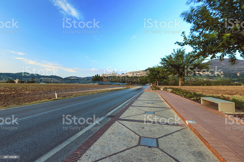 Road to Assisi, Italy royalty-free stock photo