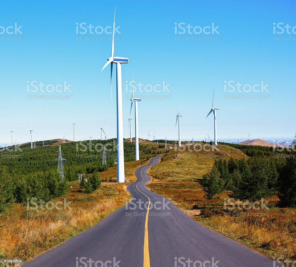 road to bule sky stock photo