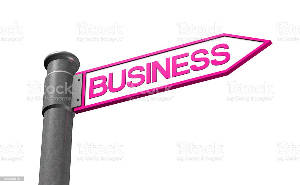 Road to Business stock photo