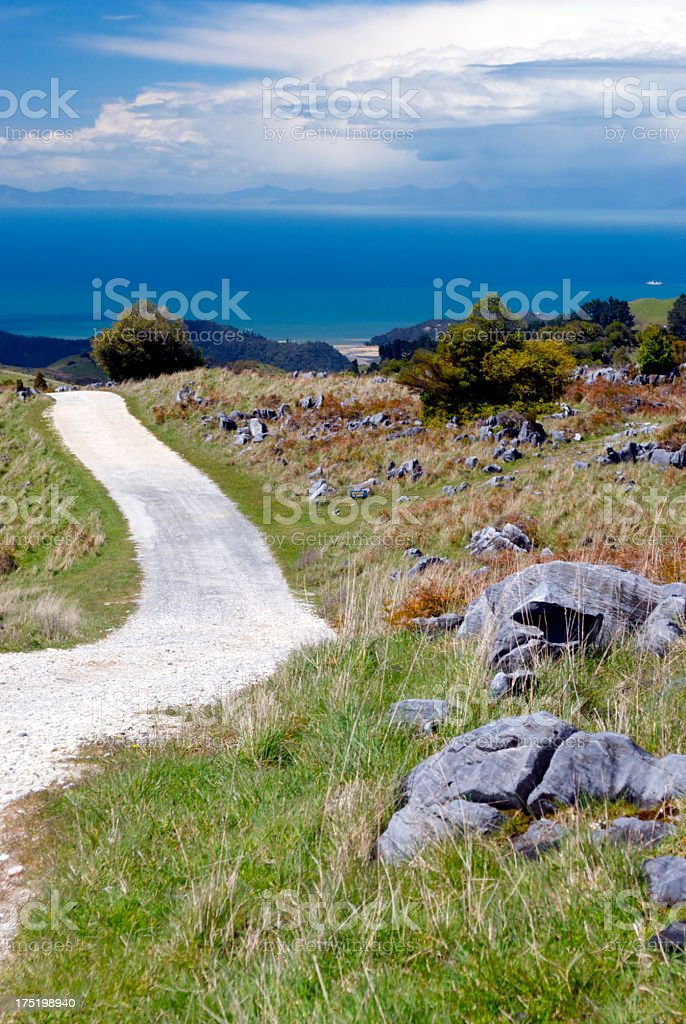 Road to Canaan Downs, New Zealand royalty-free stock photo