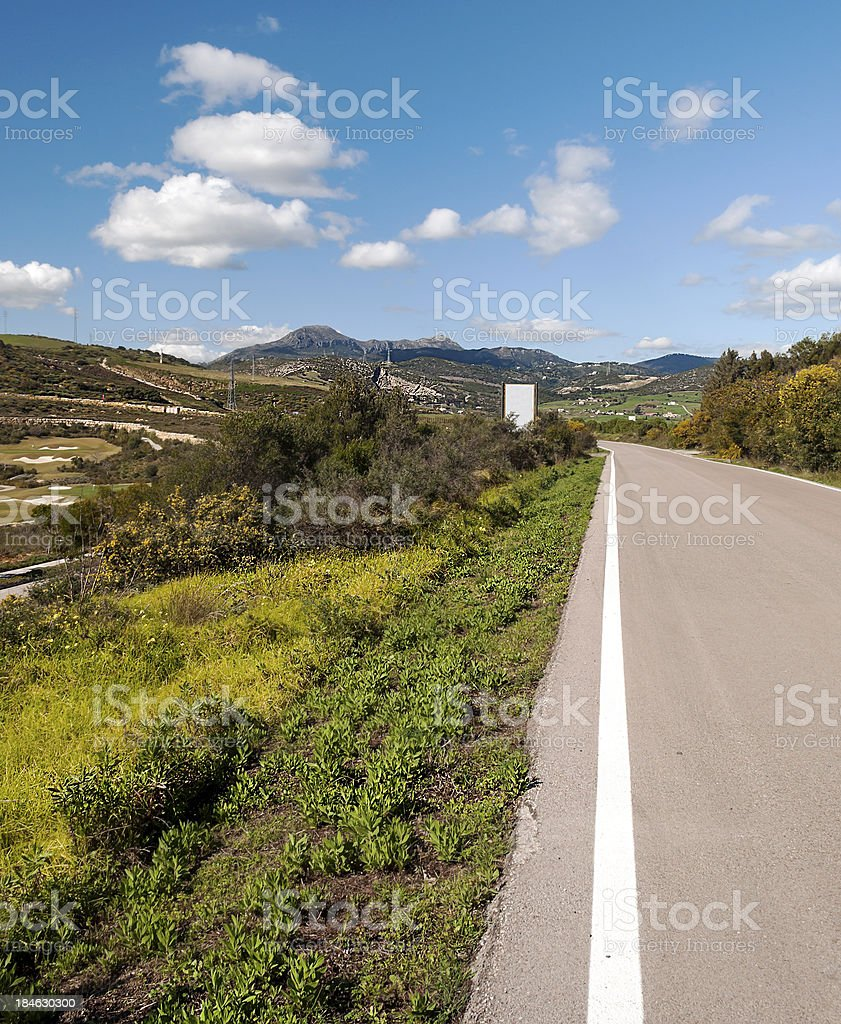 Road to Casares royalty-free stock photo