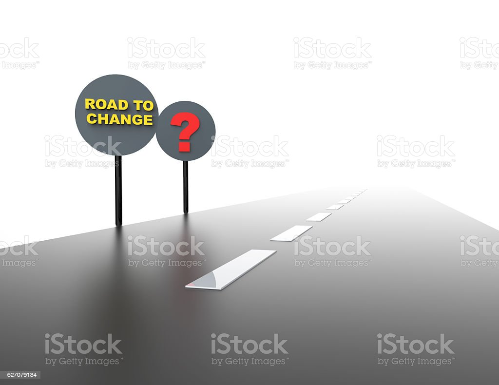 Road to change- business career stock photo