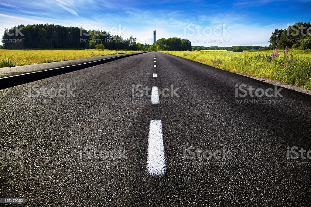 Road to chapel (XXXL) stock photo