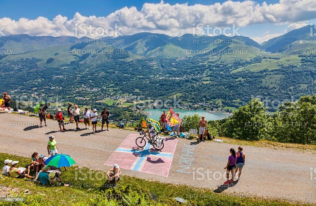 Road to Col de Val Louron Azet royalty-free stock photo