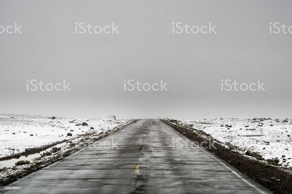Road to Colca Canyon: highest point stock photo