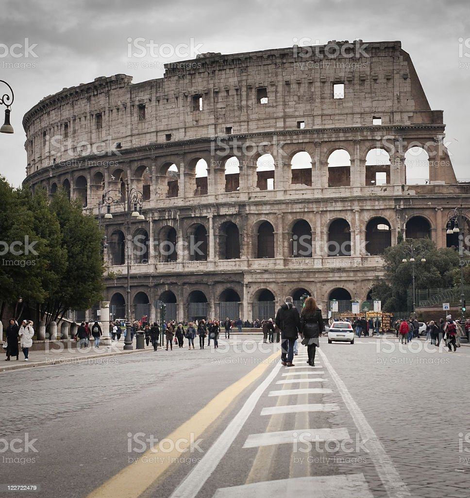 road to Coliseum stock photo