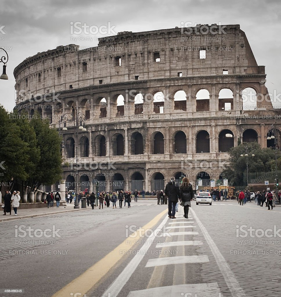 road to Coliseum royalty-free stock photo