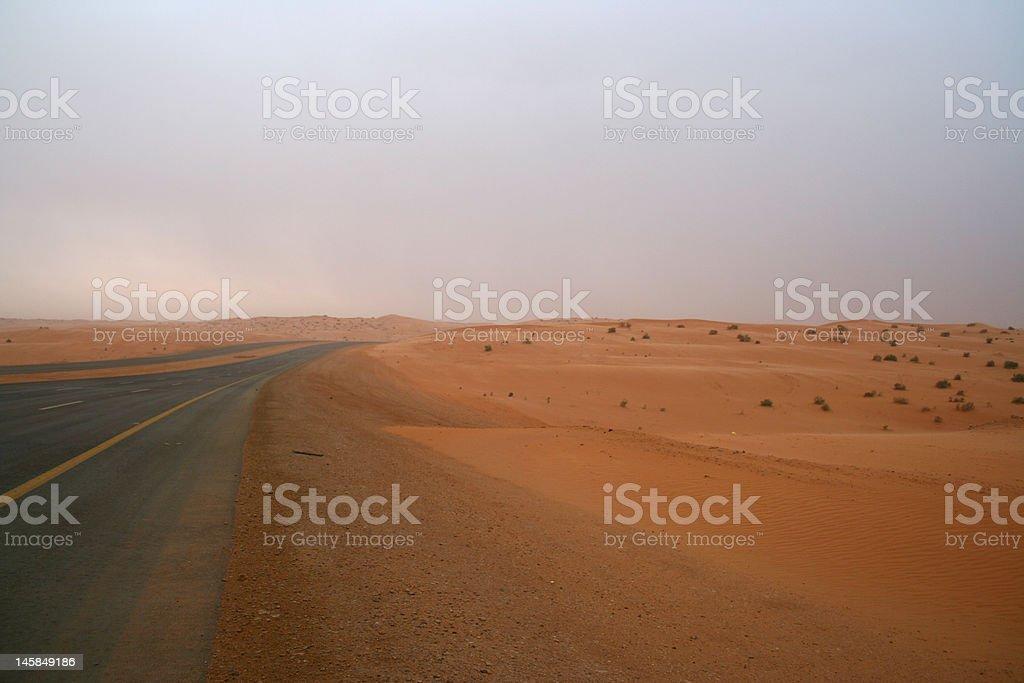 Road to desert royalty-free stock photo