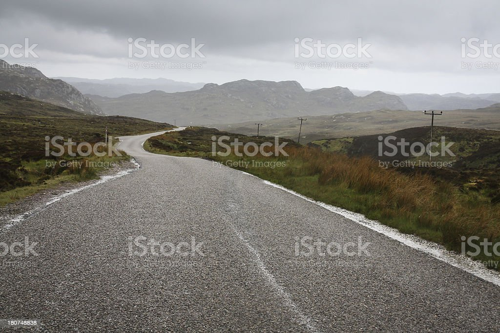 Road to Durness - Scottish Highlands stock photo