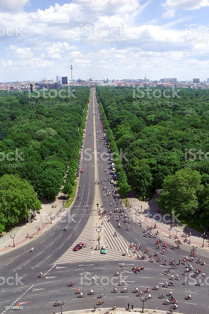 Road to East Berlin royalty-free stock photo
