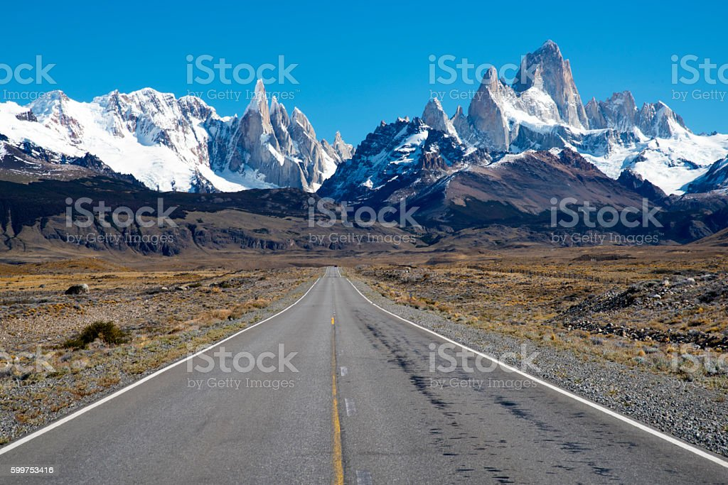 Road to El Chalten stock photo