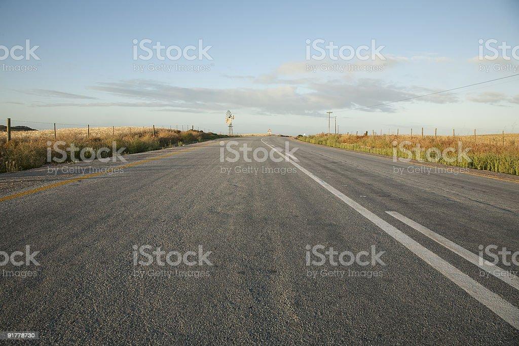 Road to Eland's Bay stock photo