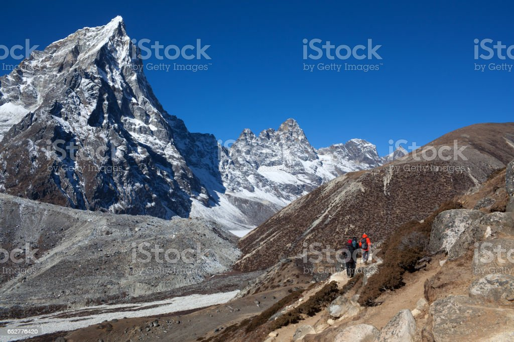 Road to Everest Base camp in Sagarmatha National Park, Nepal stock photo