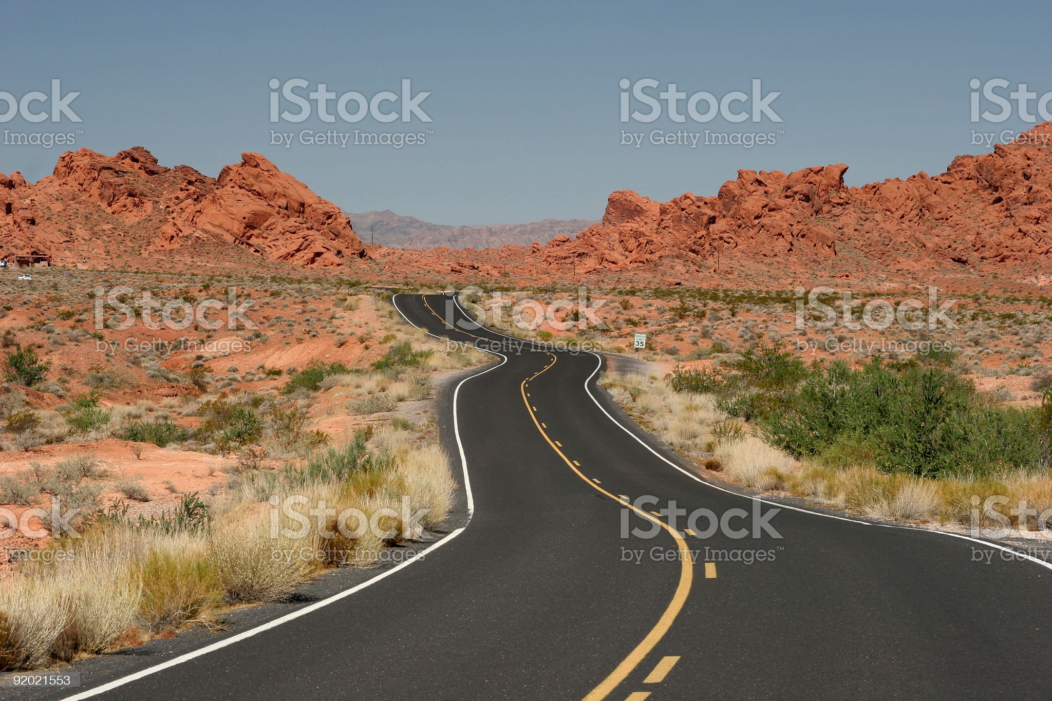 Road to fire of valley royalty-free stock photo