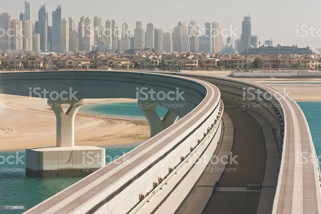 Road to future. Dubai stock photo