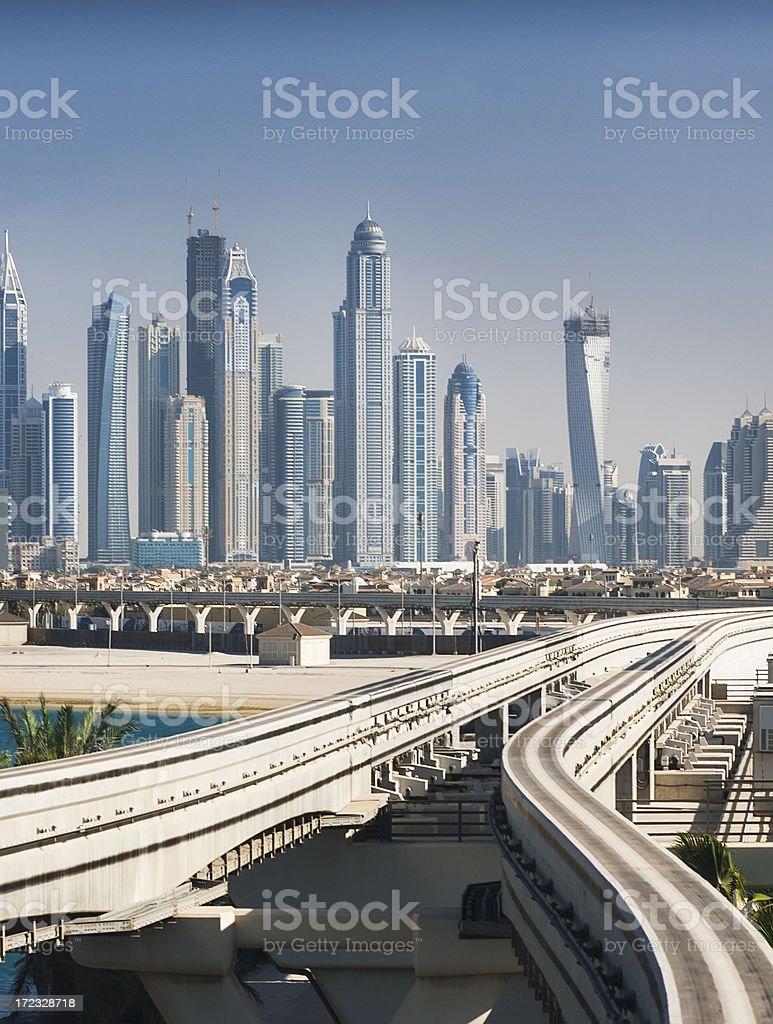 Road to future. Dubai royalty-free stock photo