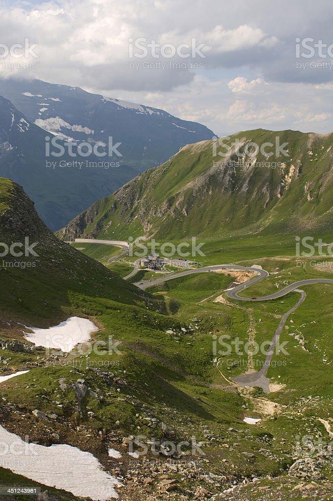 Road to Grossglockner. stock photo