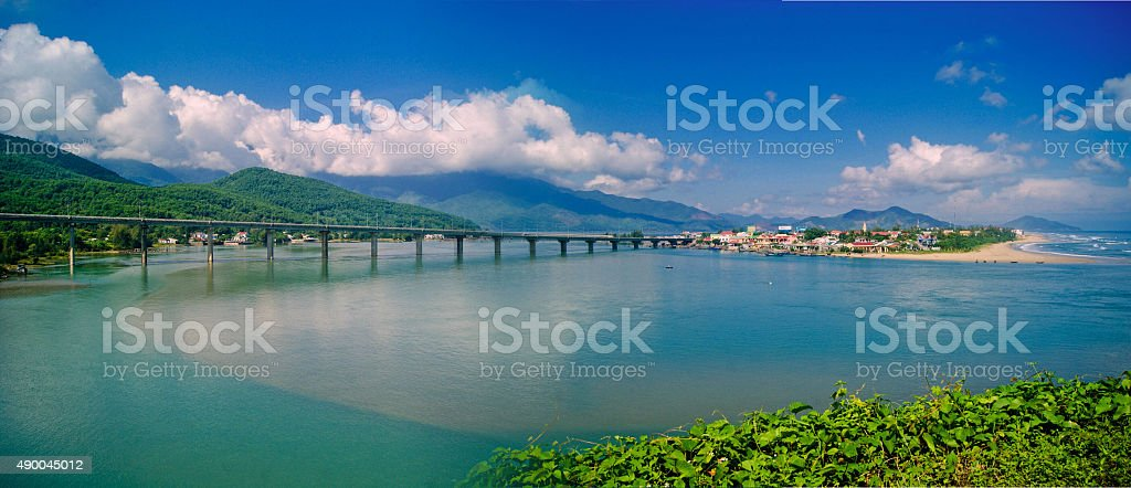 Road to Hai Van Pass, Vietnam stock photo
