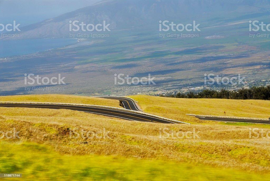 Road to Haleakala royalty-free stock photo