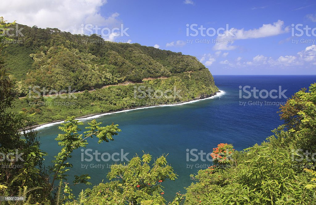 Road to Hana Maui Hawaii Pacific ocean scenic stock photo