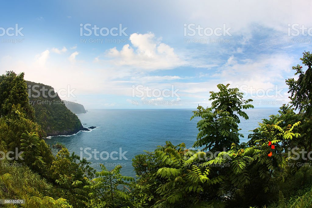 Road to Hana Maui Hawaii stock photo