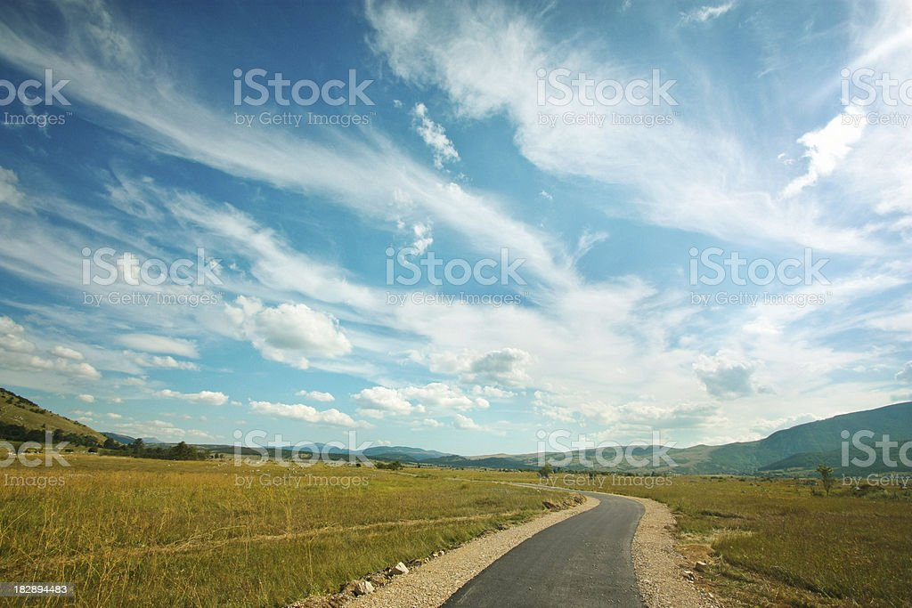 Road to horizon royalty-free stock photo