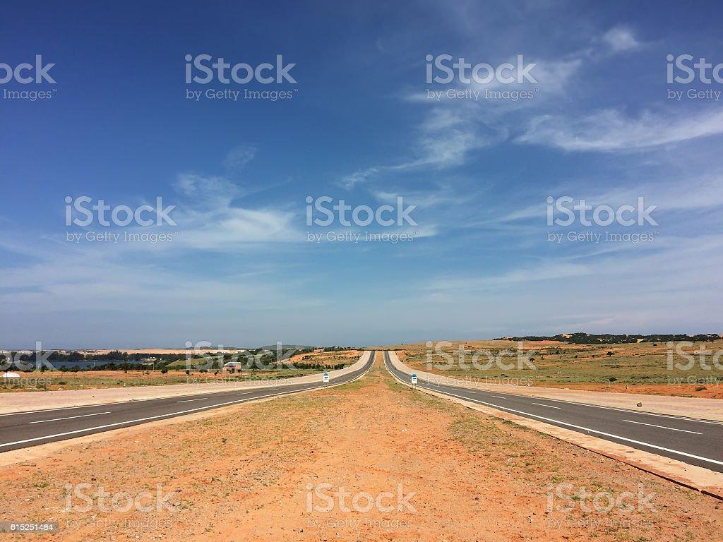 Road to horizon stock photo