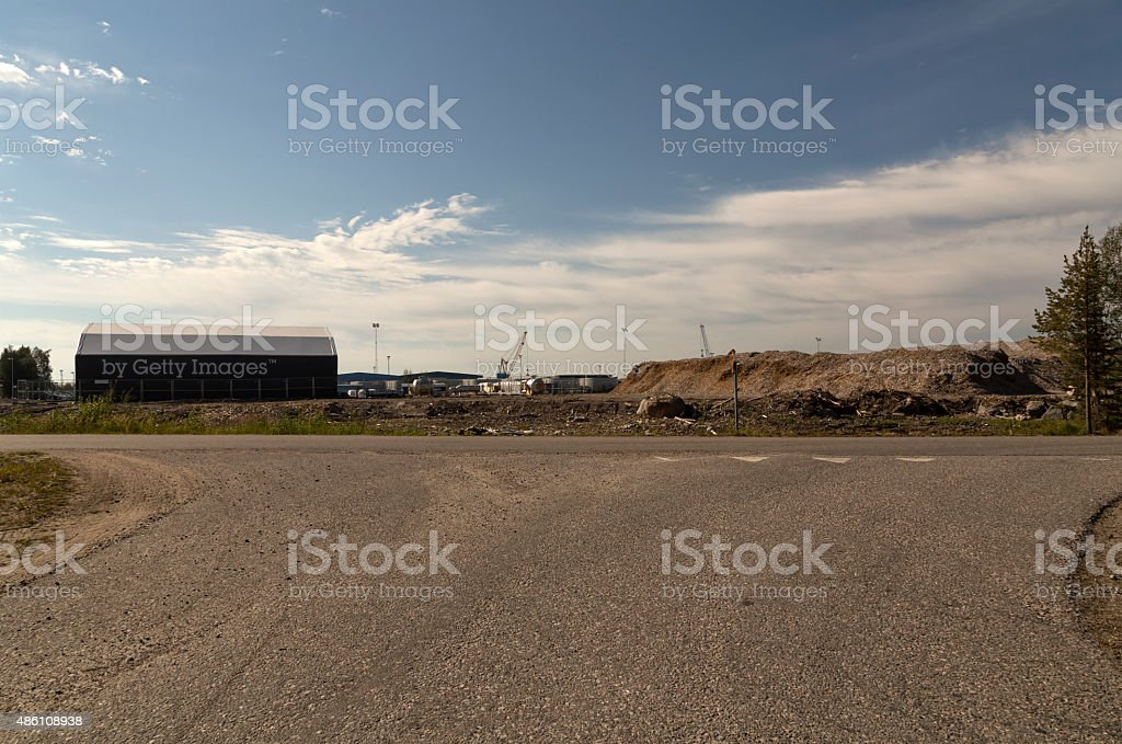 Road to industry royalty-free stock photo