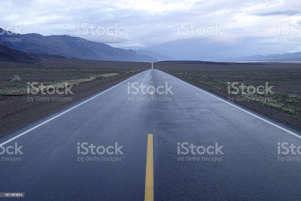 Road to infinity stock photo