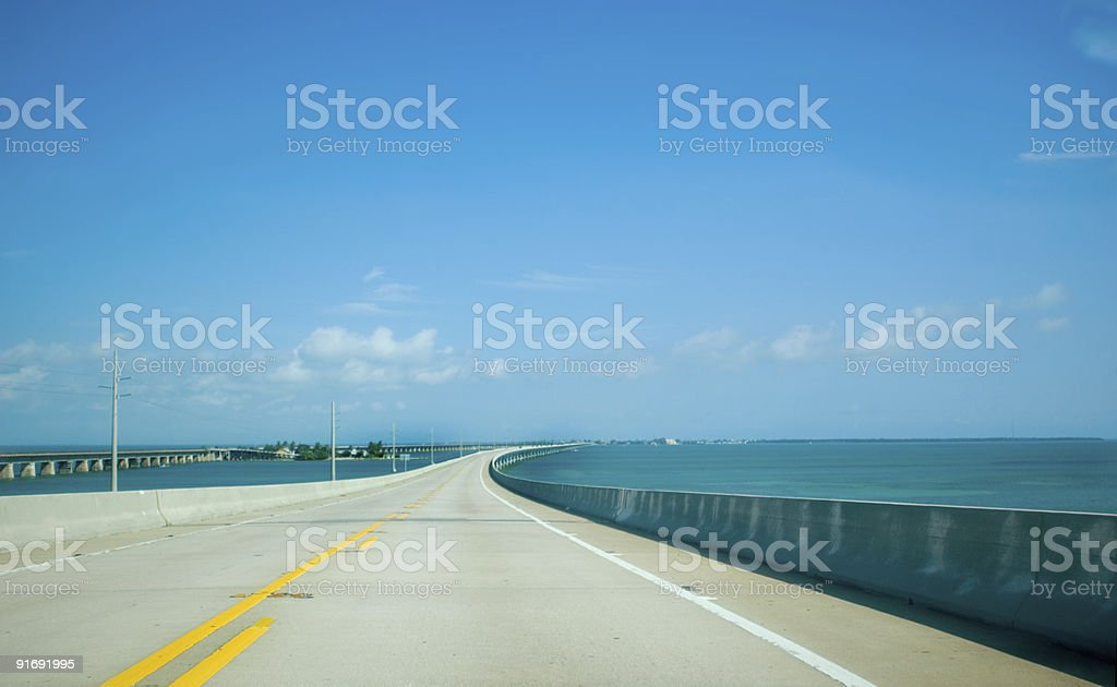 Road to Key West royalty-free stock photo