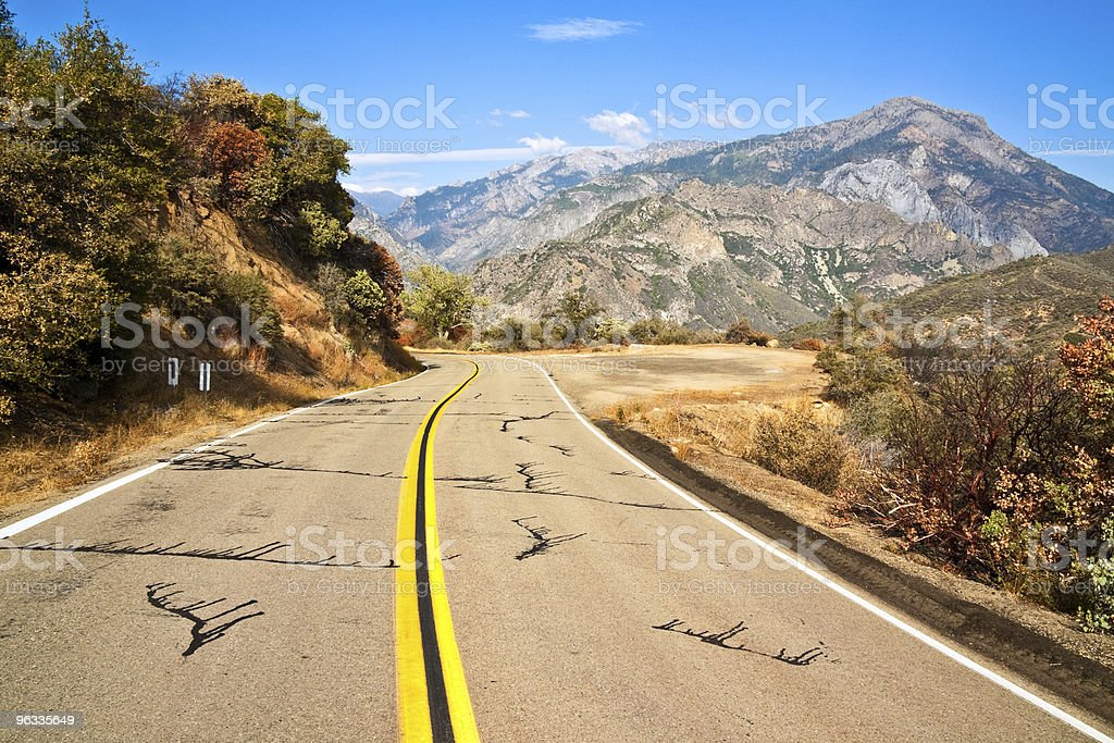 Road to King's Canyon stock photo