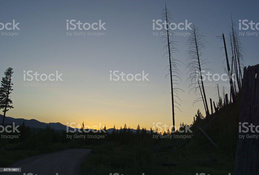 Road To Kintla Lake stock photo