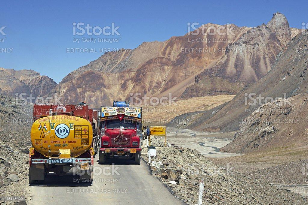 Road to Ladakh royalty-free stock photo