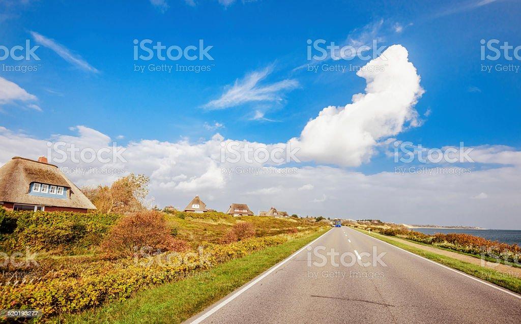Road to List auf Sylt stock photo