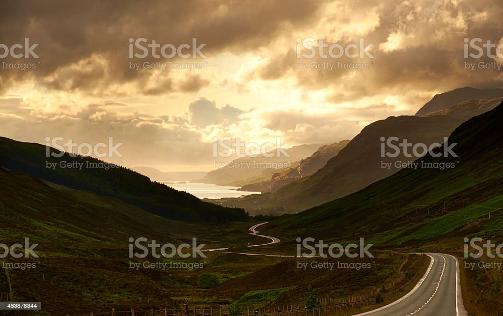 Road To Loch Maree stock photo