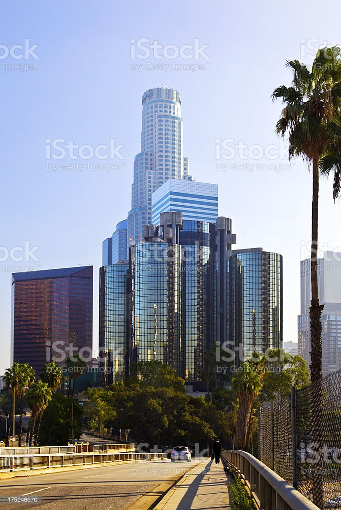 Road to Los Angeles royalty-free stock photo