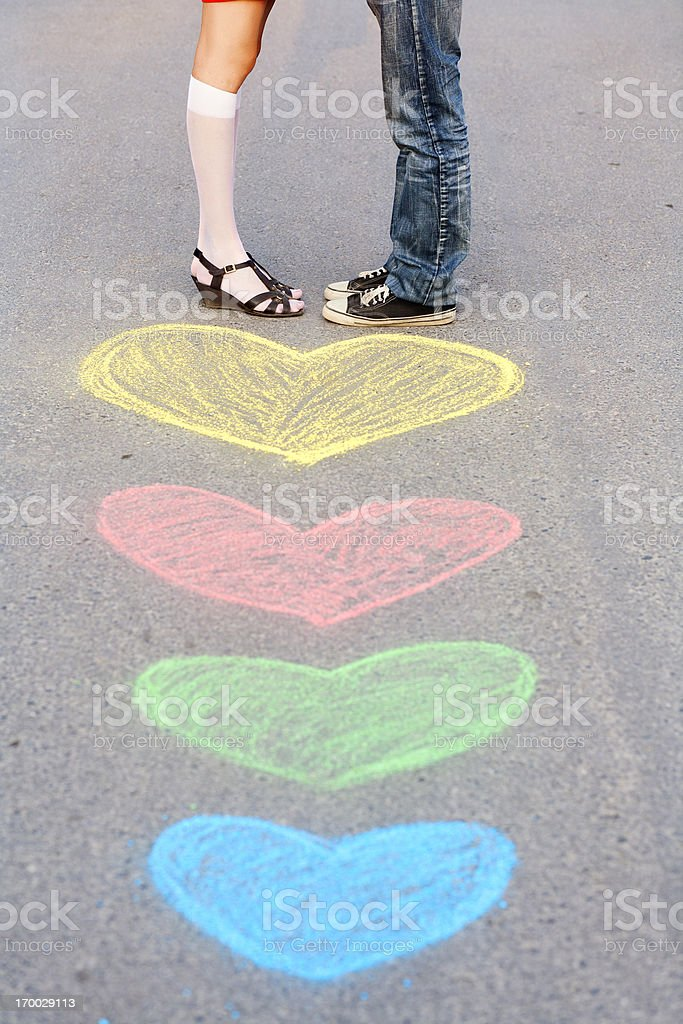 road to love royalty-free stock photo