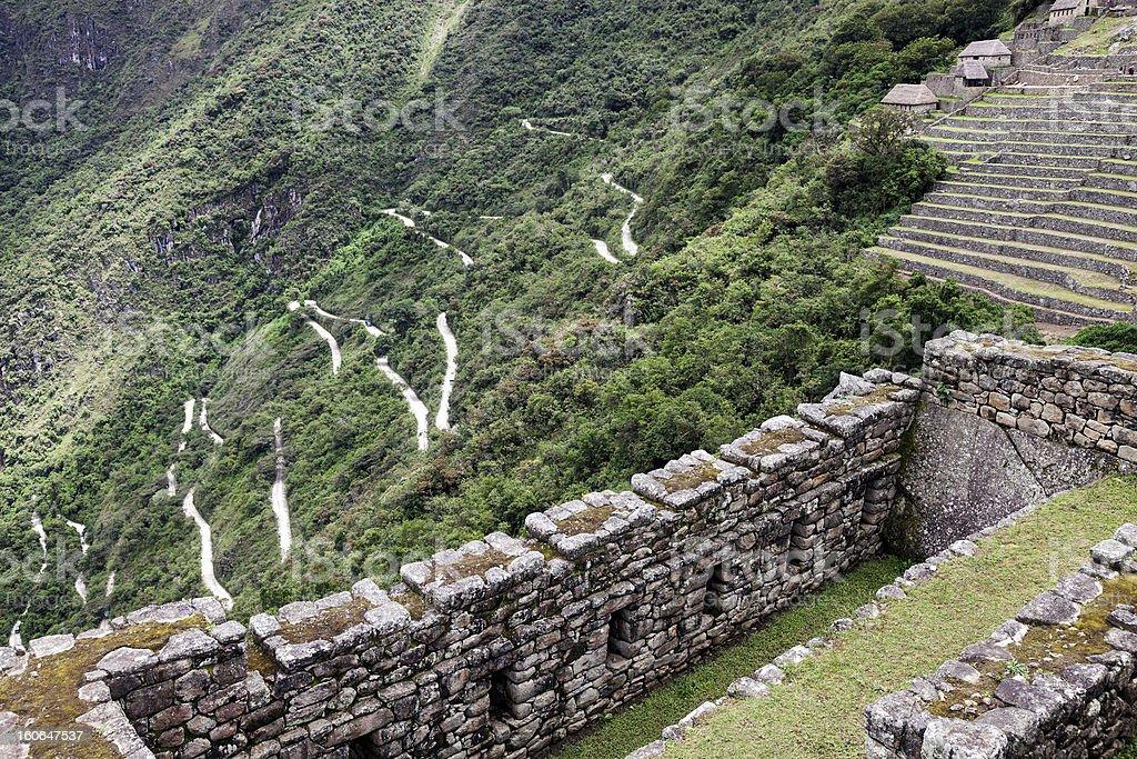 Road to Machu Picchu royalty-free stock photo