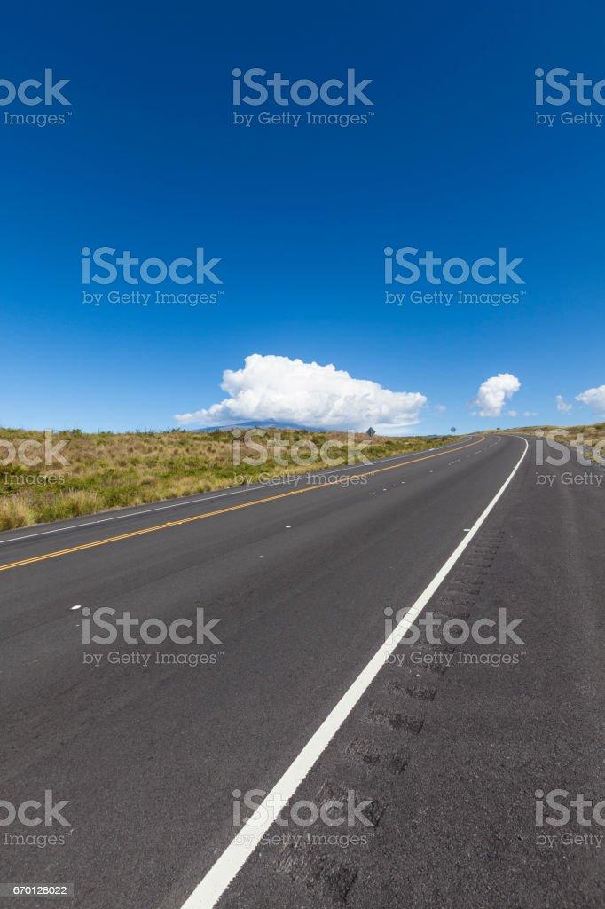 road to mauna kea, hawaii islands stock photo