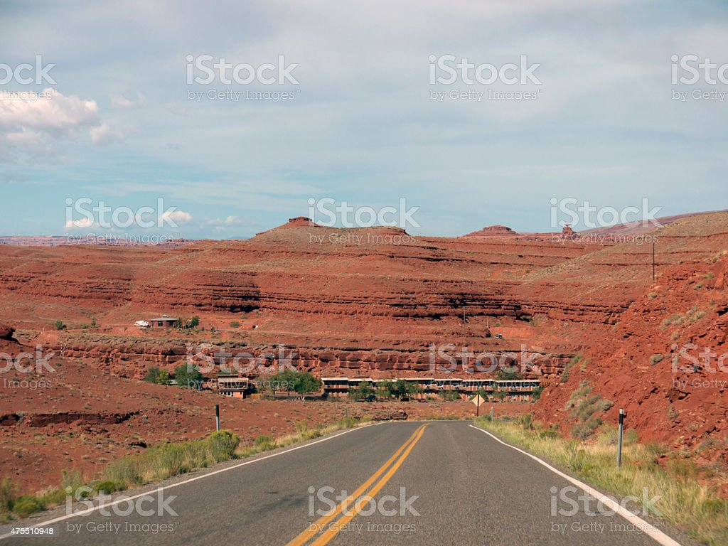 Road to Mexican Hat stock photo