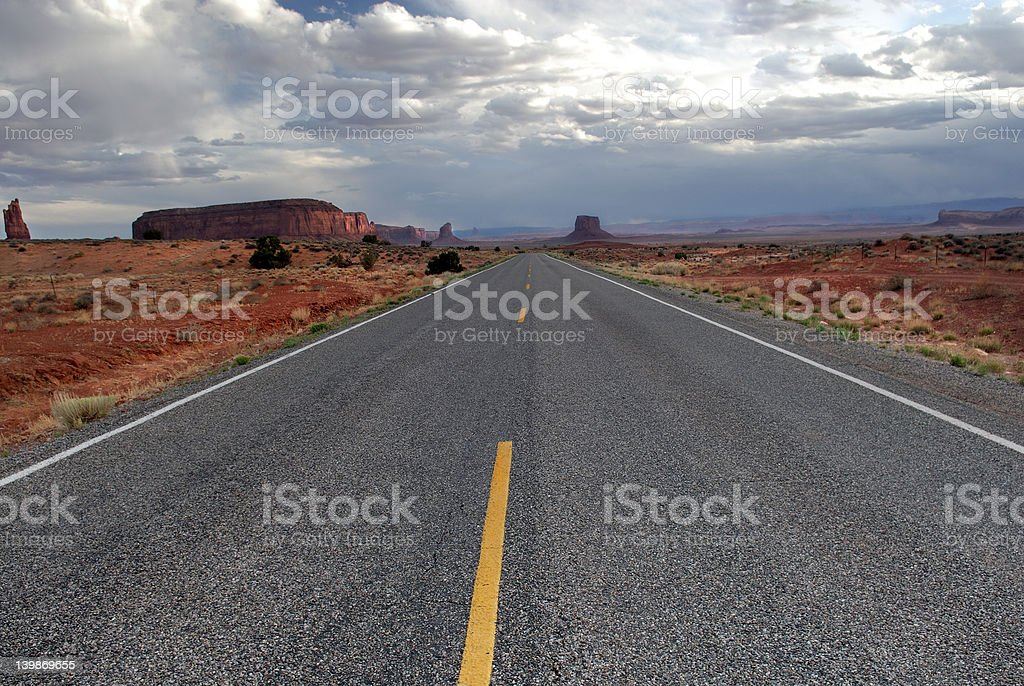 Road to Monument Valley 2 royalty-free stock photo
