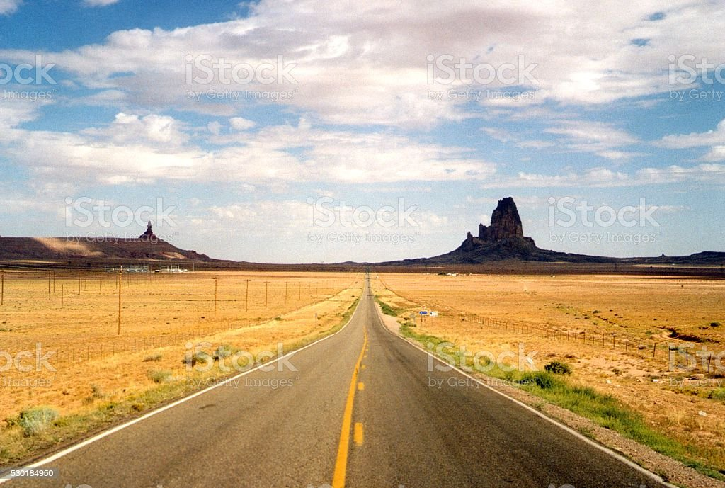 Road to Monument Valley, Arizona-Utah stock photo