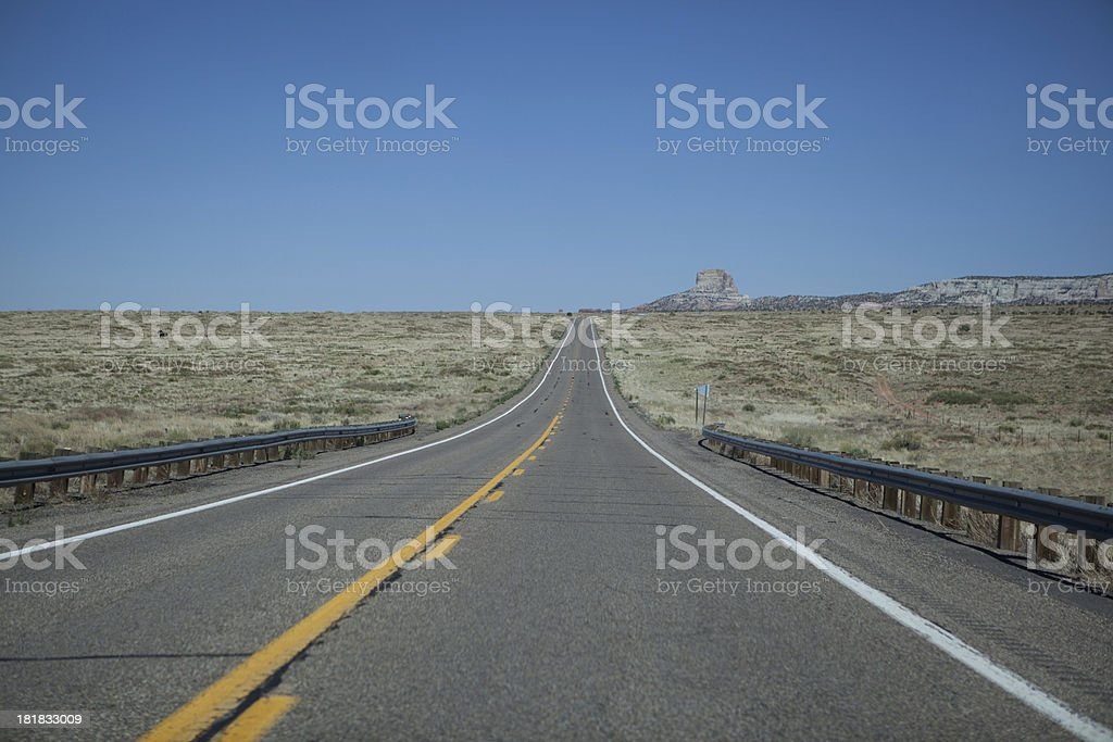Road to Monument Valley royalty-free stock photo
