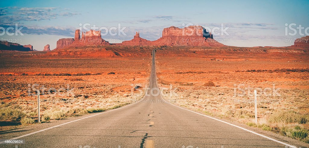 Road to Monument Valley stock photo