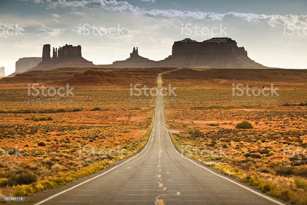 Road to Monument Valley Tribal Park stock photo